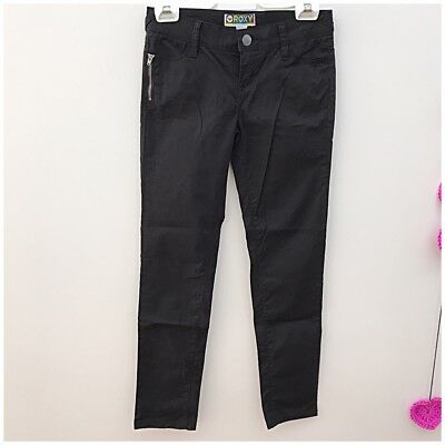 ROXY Girls Denim Jeans, Black, Size 12, excellent used condition!
