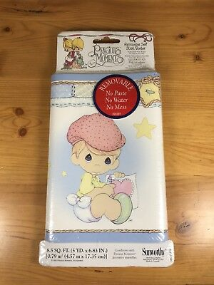 "Precious Moments Removable Self Stick Wall Border Wallpaper 5 Yards X 6.83"" New"