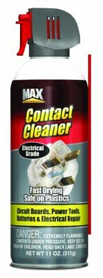 NEW 11Oz Contact Cleaner Max Professional Pro Chemical Soap Oil Dirt Safe Tuner