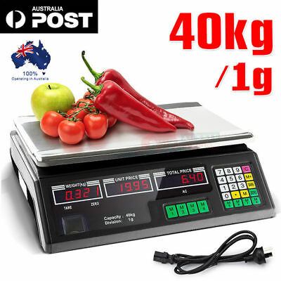 40KG Kitchen Scale Digital Electronic Weight Scales Food for Cafeteria Market