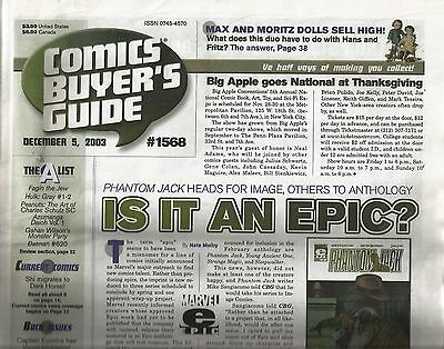 Comics Buyers Guide #1568 (Dec. 5, 2003) VG/FN