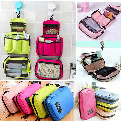 Travel Cosmetic Makeup Bag Toiletry Case Wash Organizer Storage Hanging Pouch HY