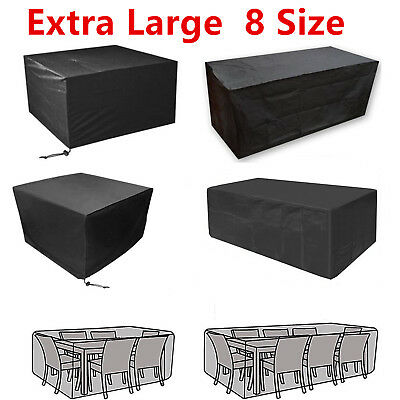 Heavy Duty Waterproof Rattan Cube Cover Outdoor Garden Furniture BBQ Protection