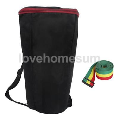 Djembe Tom-Tom Bag Backpack + Tricolor Stage Belt Set Percussion Accessory