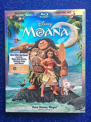 Moana (Blu-ray+DVD+Digital HD, 2017; 2-Disc Set) NEW w/ Slipcover; Disney