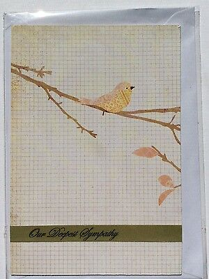 Handmade Card, Sympathy, Blank Inside, Max $2 Postage For Any Number of Cards