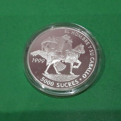22.9.17 #Equador -1999 silver proof 5000 sucres  (4 th Ibero-American serie)