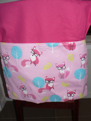 Kids Handmade Chair Bags First Name Embroidered Free Fox Print