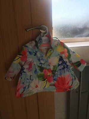 Baby Girls Ted Baker Floral Coat Rain Mac 0-3 Months