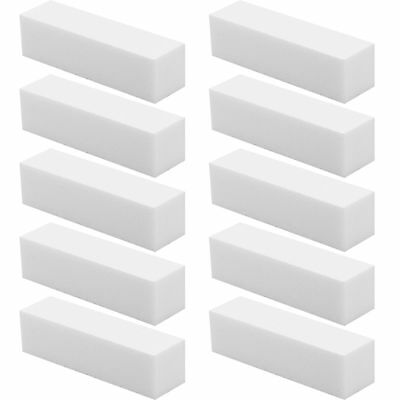 10 X Womens Buffer Buffing Sanding Files Block Pedicure Manicure Nail Art White