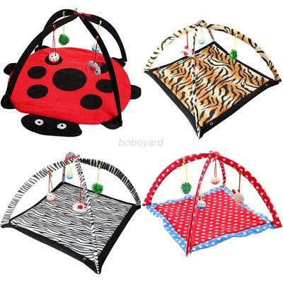 Pet Cat Play Tent Bed Fun Activity Toy Kitten Pad Cushion Exercise Cute Gift NEW