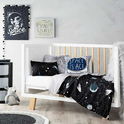 Adairs Kids Intergalactic Cot Quilt Cover Set BNIB - RRP $109.99