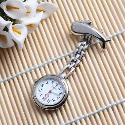 Cute Mini Dolphin Stainless Steel Nurse Watch Brooch Tunic Fob Watches Quartz