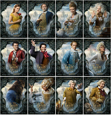 12 Beauty and the Beast Movie 2017 Mirror Surface Postcard Promo Poster Card  C3