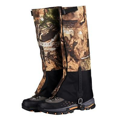 2Pcs Camo Snow Sand Legging Gaiters Boot Cover for Walking Hiking Climbing L