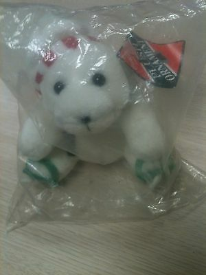 Vintage Coca Cola Plush Bear Ornament (1997)