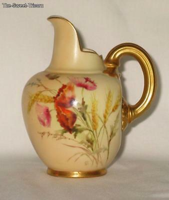 Royal Worcester Jug (Ewer), painted by Edward Raby, Shape 1094.