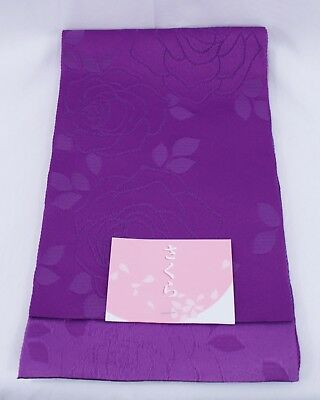 半幅帯 HANHABA OBI - Ceinture japonaise - Roses - Made in Japan 159