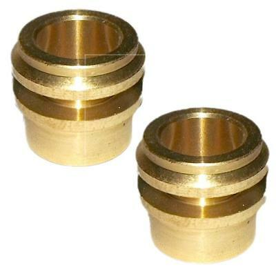 2 x 15mm to 10mm Reducer Couplers for Radiator Tap Compression Fitting