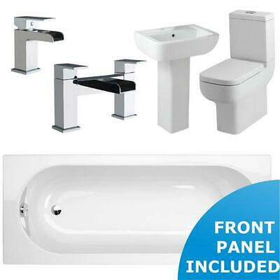 Full Complete Bathroom Suite 1700 mm Single Ended Bath Modern Toilet & Sink