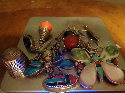 Sterling Silver Scrap or Not Lot of Beautiful Mixed Jewelry Pieces!!!!!