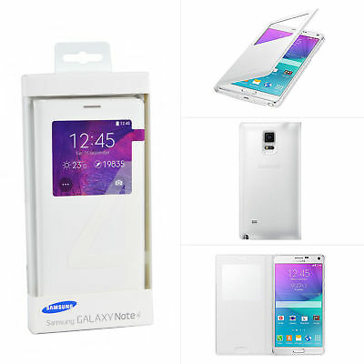 New Genuine Samsung Galaxy Note 4 S-View Smart Window Flip Cover Case For N910F