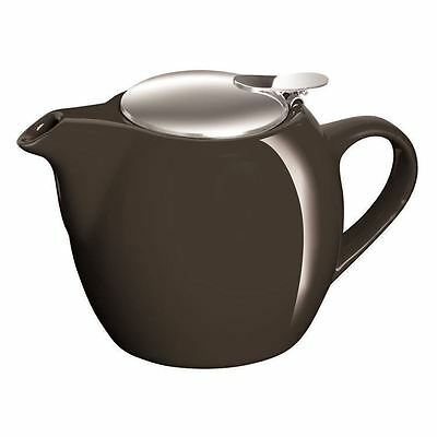 Avanti - Camelia Pitch Black Ceramic Tea Pot with Stainless Steel Lid and Infuse