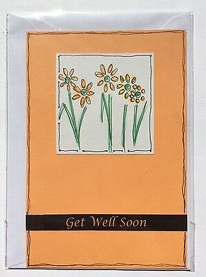 """Handmade """"Get Well Soon"""" Card, Blank Inside, Max $2 Postage For Any No of Cards"""