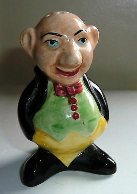 Rare Vintage Novelty Character Tailcoat bald man Pepper shaker/pot Sylvan
