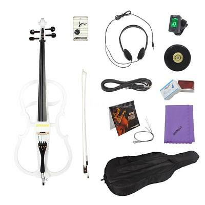 ammoon 4/4 Full Size Electric Cello Violoncello in Style 1 w/Tuner Gig Bag V5S6
