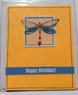 Handmade 'Happy Birthday' Card, Blank Inside, Max $2 Postage For 2 Or More Cards