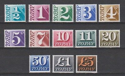 Great Britain postage due SG D 77 - 89 MNH 1970 (Michel nr 76 - 88)