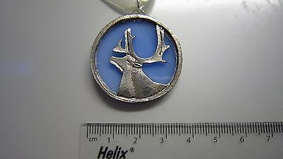 Tiffany Stained Glass - Stag - Charm - Ornament - Deer - Reindeer -Handmade Gift