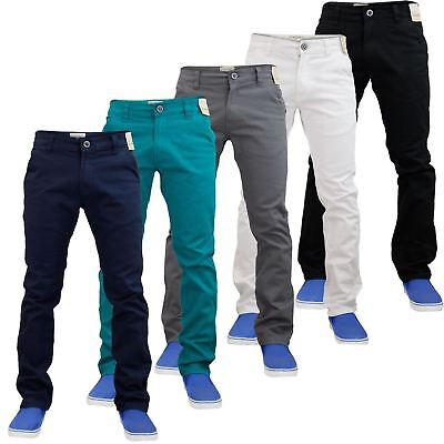 New Mens Stretch Slim Fit Chino Jeans Straight Leg Chino Trousers Pants 30-42