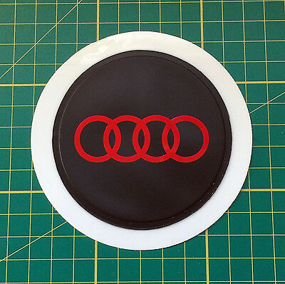 Black Plastic Self Cling Tax Disk and Parking Permit Holder Audi Red logo