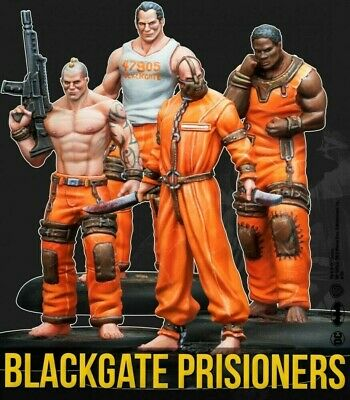 Blackgate Prisoners Set Knight Models 2nd Edition New Batman Miniatures Game