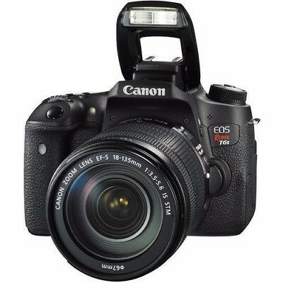 Canon EOS Rebel T6s w/18-135mm IS STM Digital SLR Camera - NEW!