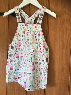 Next Peppa Pig Lovely Girls Dungarees Age 3-4yrs In Excellent Condition