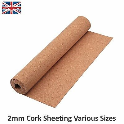 Cork Sheet Rolls Landscape Mats Model Railways Sizes Approx 2mm Thick Javis
