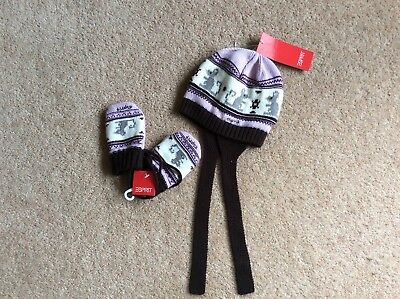 Esprit Hat and Mittens BNWT