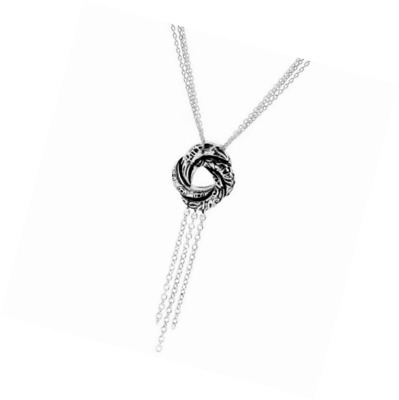 Little Treasures - Sterling Silver Algerian Love Knot Pendant Necklace
