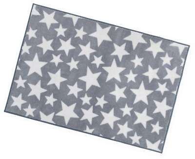 Kit for Kids Nursery Rug, Grey with White Stars