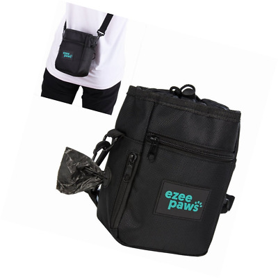 Ezee Paws Dog Walk and Treat Bag With Built-in Waste Poo Bags Dispenser includes