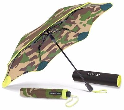 BLUNT XS_Metro CAMO+YELLOW Compact Collapsible/Folding Automatic Umbrella
