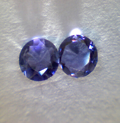 2 IOLITE faceted round 4,0 mm 0,36 cts / pair - Saphirboutique