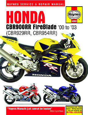 Haynes Honda Cbr900Rr Fireblade 2000-2003 Haynes Service Manual Workshop Manual