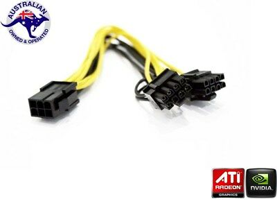 PCI Express PCIE 6 Pin to Dual 8 Pin Graphic Card Power Adapter Cable Nvidia ATI