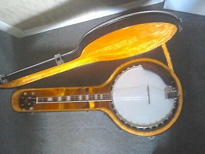 Rare German banjo. Comes with hard case. Chord book proves that is over 40 years