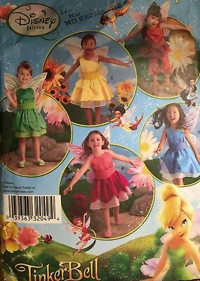Vintage Cut 2008 Simplicity Disney Tinkerbell Fairies 2872 Pattern Childs