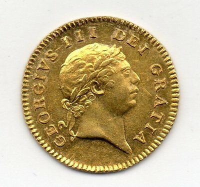 1804 Half Guinea, George Iii Laureate Head, High Grade